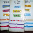 Wholesale Lot Karen Foster Scrapbook Gel Slide & Trims