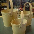 PAPER MACHE SET OF THREE  OVAL PAILS