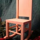UNFINISHED WOOD DOLL ROCKER~READY TO PAINT