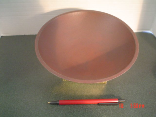 Primitive Burgundy Distressed Antiqued Wood Bowl - Small