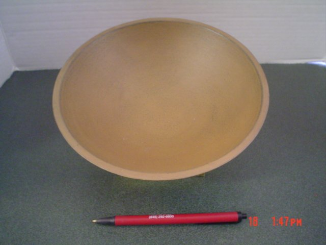 Primitive Mustard Distressed Antiqued Wood Bowl - Small