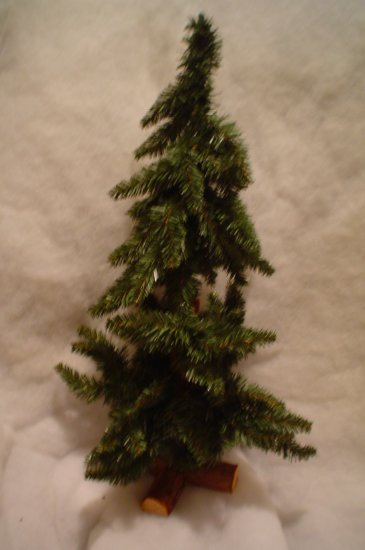 CUTE 18 INCH ALPINE CHRISTMAS TREE~READY TO USE