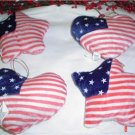 Heart and Star Patriotic Pillow Ornaments