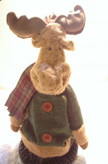 Primitive Christmas Lodge Moose Decoration
