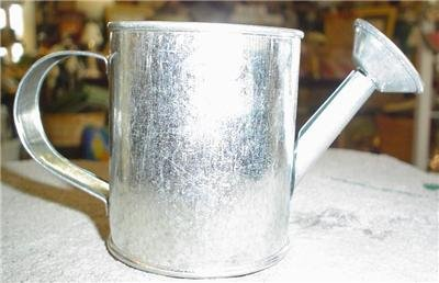 SMALL GALVANIZED METAL WATERING CAN