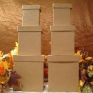PAPER MACHE TWO SETS OF RECTANGLE SHAPED  STACKING BOXES