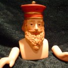 Porcelain Red Crown Wiseman Doll Kit~ Head 3 inch & Hands