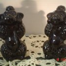 Vintage Black Poodle Dogs Salt and Pepper Shakers Set