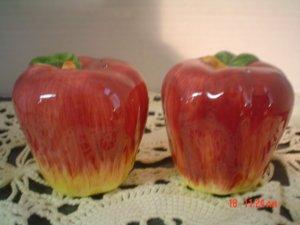 Ceramic Apple Salt and Pepper Shakers Set