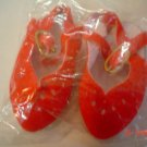 Red Velveteen Doll Shoes - Sling Back - Size Four