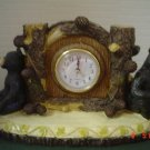 Desktop Lodge Black Bear Clock