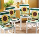 Cute Country Sunflower Kitchen Seat Cover Set