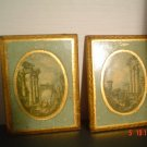 Vintage Florentine Large Rectangle Shaped Plaques from Italy