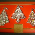 Box of Three Lenox Christmas Ornaments