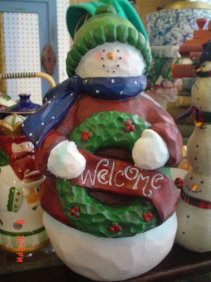 Large Christmas Resin Snowman