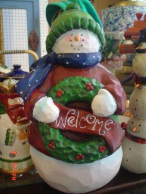Large Christmas Resin Snowman