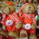 Pair of Christmas Candy Bears
