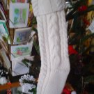 Christmas Off white knit stocking with Pearls