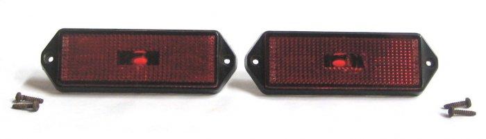Rear Side Marker Light Lenses - Set of 2 - Red - 1983 Alfa Romeo GTV6