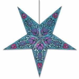Peacock Star Lamp in Blue