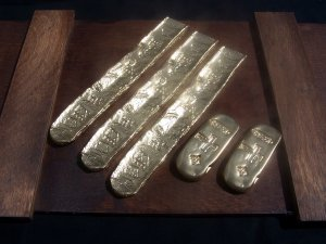 ATOCHA REPLICA GOLD BAR BRICK INGOT NOVELTY PROP