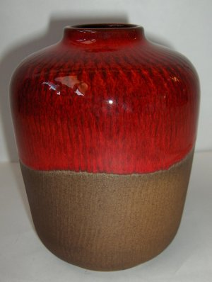 Gunnar Nylund Oxblood Glaze Vase Sweden Mid Century