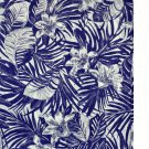 "White with Purple Tropical Print Cotton Blend Fabric 58"" wide x 2.33 Yards"