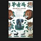 Wildlife Safari Animals No Sew VIP Cranston 100% Cotton Crafting Applique Panel