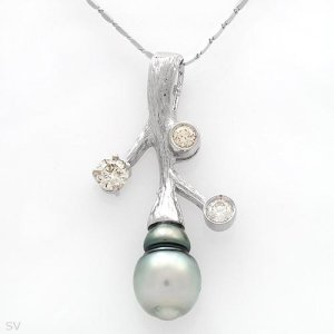 Brand New Superb Necklace With 1.05ctw Genuine Clean Diamonds - $5800