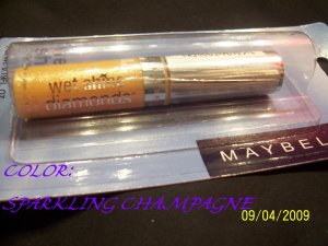 MAYBELLINE WET SHINE DIAMONDS- #37 SPARKLING CHAMPAGNE