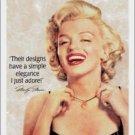 Norma Jean Baker aka Marilyn Monroe LAH Jewelers TIN SIGN