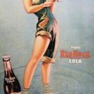 Red Rock Cola - Girl Fishing TIN SIGN