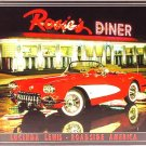 Lucinda Lewis - Rosie's Diner Roadside America Corvette TIN SIGN