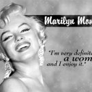 Norma Jean Baker aka Marilyn Monroe 'I am woman' TIN SIGN