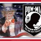 Patriotic POW-MIA / Uncle Sam / Stars & Stripes Airwaves - You are not forgotten TIN SIGN