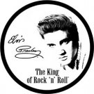 Elvis Presley The King of Rock 'n' Roll Round TIN SIGN faux autograph