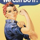 "Rosie the Riveter - ""We Can Do It!"" TIN SIGN"