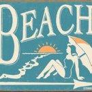 Schonberg Woman Sunbathing on Beach TIN SIGN
