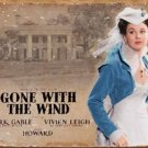 Clark Gable 'Gone With the Wind' weathered movie poster TIN SIGN