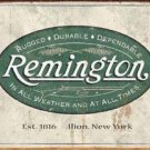 Remington hunting rifles/shotguns weathered TIN SIGN
