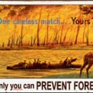 Smokey Bear - 'Only you can prevent forest fires!' TIN SIGN