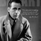 Humphrey Bogart on Making Money TIN SIGN