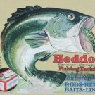 Heddon Fishing Tackle - Leaping Bass TIN SIGN