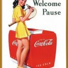 Coke - Coca Cola - Welcome Pause Tennis TIN SIGN
