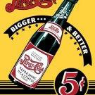 Pepsi Cola - Bigger & Better Bottle TIN SIGN