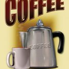 Fresh Brewed Coffe by Mike Patrick TIN SIGN