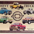 Chevy Truck Tribute TIN SIGN SIZE