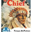Santa Fe - The Chief - All-Pullman Streamliner Train TIN SIGN