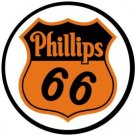 Round Phillips 66 Shield TIN SIGN