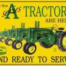 """John Deere Tractors - """"A"""" Series TIN SIGN"""